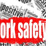 Word cloud work safety image with hi-res rendered artwork that could be used for any graphic design.